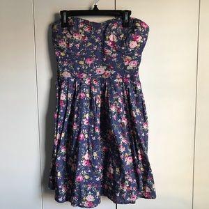 Rue21 Floral Strapless Dress